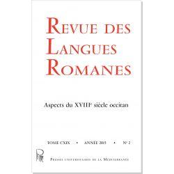 Revue des Langues Romanes Tome 119 n° 2