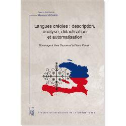 Langues créoles : description, analyse, didactisation et automatisation