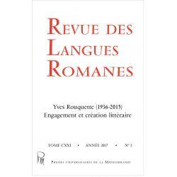 Revue des Langues Romanes Tome 121 n° 2