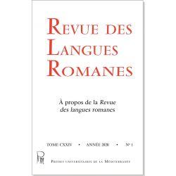Revue des Langues Romanes Tome 124 n° 1