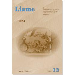 Liame n° 13 : Varia