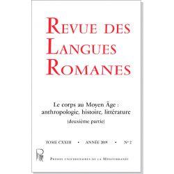 Revue des Langues Romanes Tome 123 n° 2