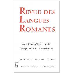 Revue des Langues Romanes Tome 120 n° 2