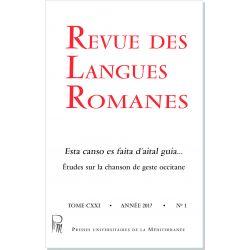 Revue des Langues Romanes Tome 121 n° 1