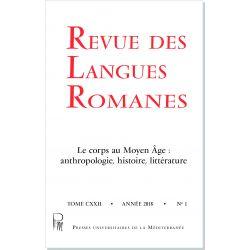 Revue des Langues Romanes Tome 122 n° 1