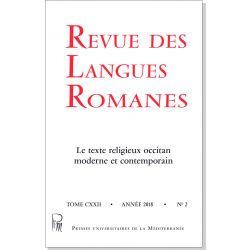 Revue des Langues Romanes Tome 122 n° 2