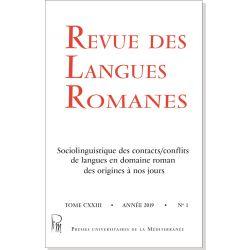 Revue des Langues Romanes Tome 123 n° 1