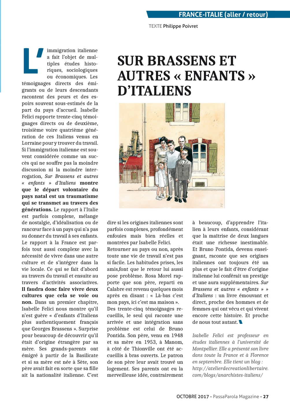 Article paru dans la presse internationale