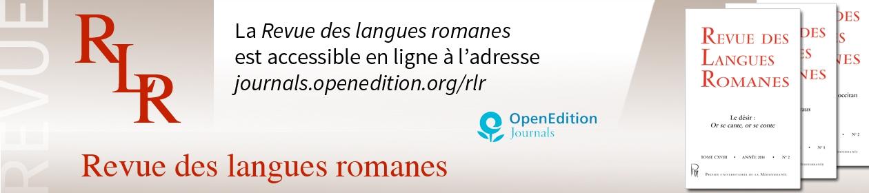 Revue des langues romanes